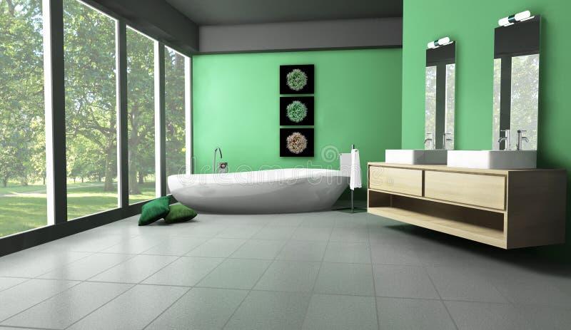 Salle de bains dans la forêt photographie stock