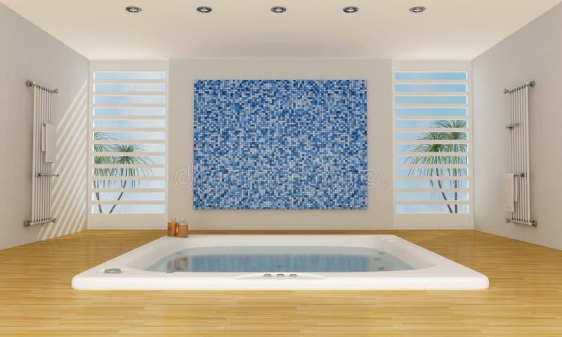 Salle de bains de luxe moderne illustration stock