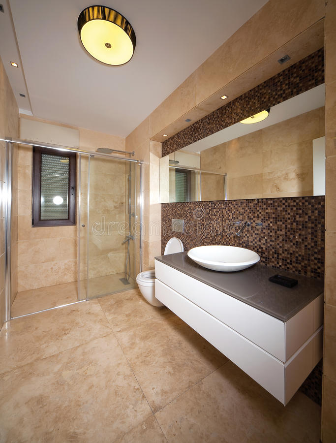 Salle de bains de marbre image libre de droits