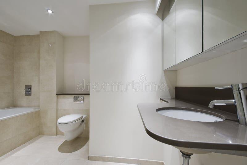 Salle de bains dernier cri image stock