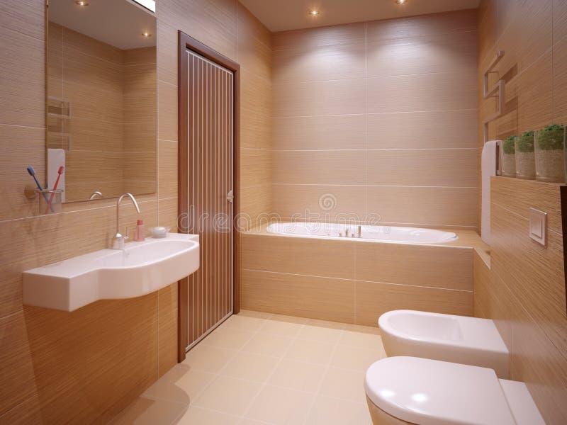 Salle de bains gentille illustration stock