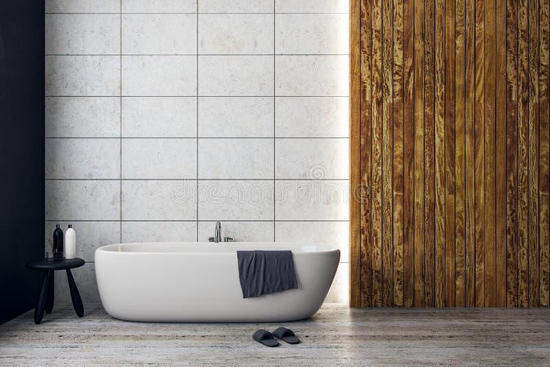 Salle de bains de luxe avec le copyspace illustration de vecteur