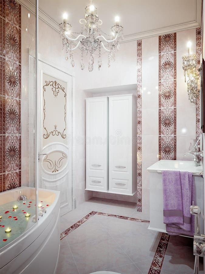 Salle De Bains Luxueuse Dans Le Type Classique Photo stock ...