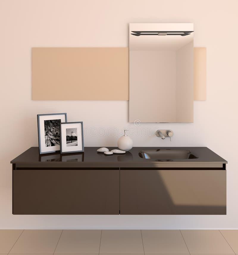 Salle de bains moderne. illustration de vecteur