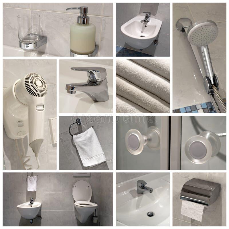 Salle de bains moderne - collage images libres de droits