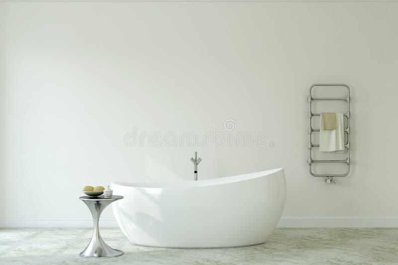 Salle de bains moderne rendu 3d illustration de vecteur