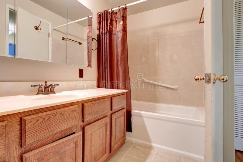 salle de bains rose clair image stock image du am ricain 38690377. Black Bedroom Furniture Sets. Home Design Ideas