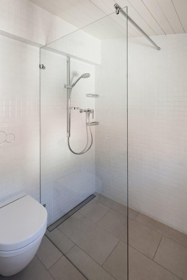 Salle de bains, toilette et douche image libre de droits