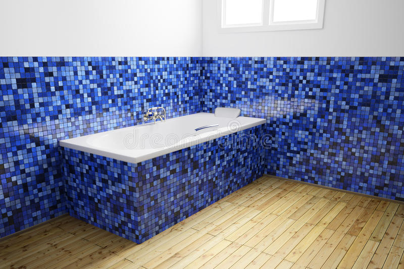 Salle de bains vide de vue angulaire illustration stock