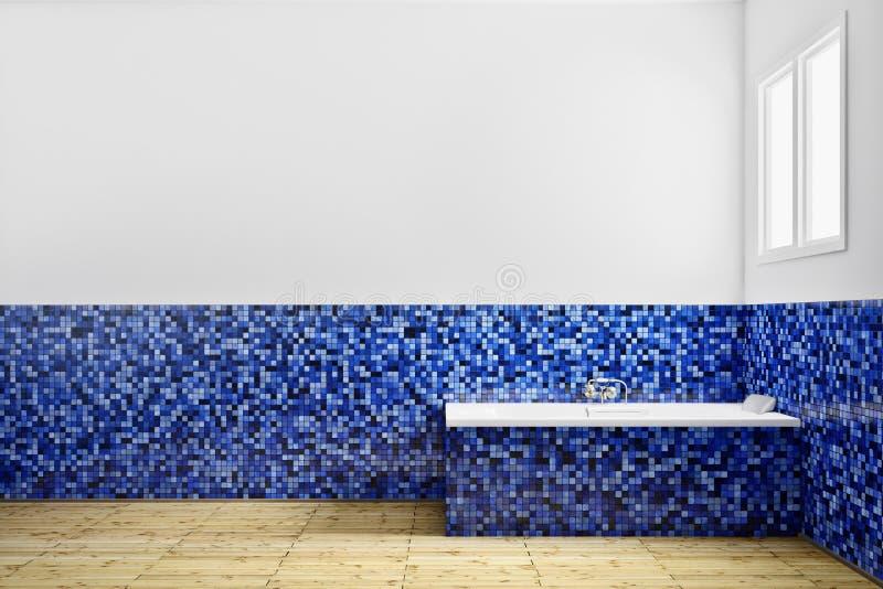 Salle de bains vide de vue de côté illustration de vecteur