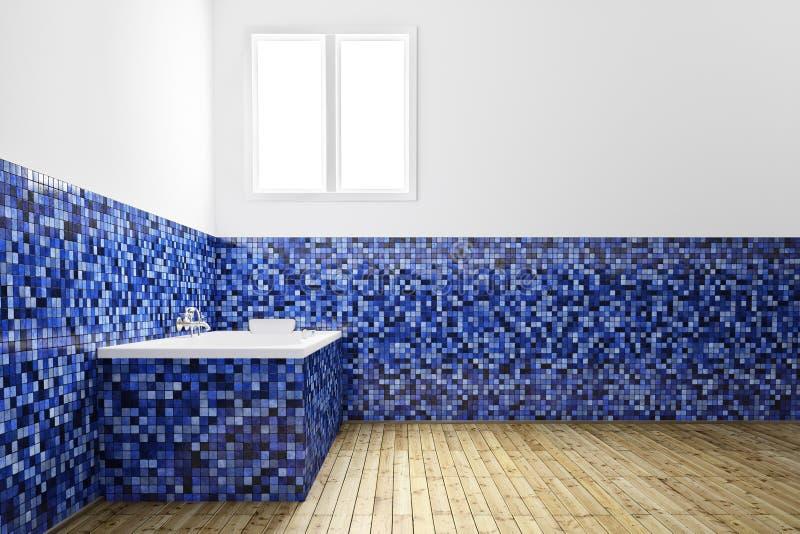 Salle de bains vide de vue de face illustration stock