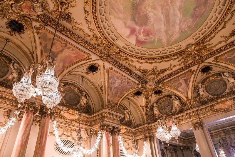 Salle de bal du musée d'Orsay, Paris, France photo stock