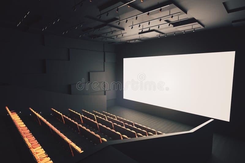 Download Salle De Cinéma Avec L'écran Vide Illustration Stock - Illustration du fond, hall: 77159189