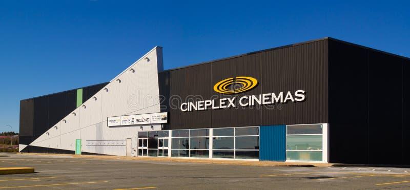 Salle de cinéma de Cineplex image libre de droits