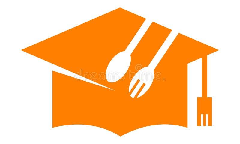 Salle de classe culinaire Logo Design Template illustration libre de droits