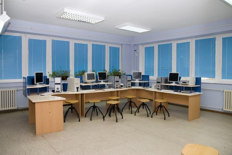 Salle de classe d'ordinateur photographie stock