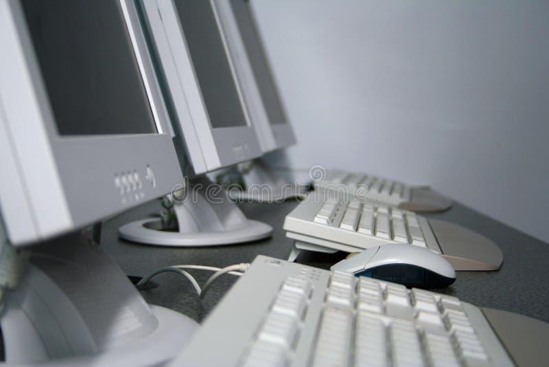 Salle de classe de formation d'ordinateur photos libres de droits