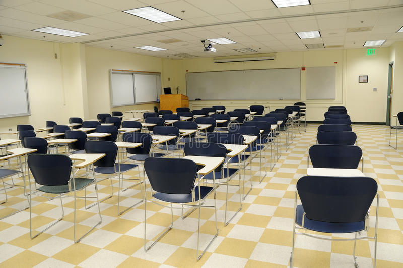 Salle de classe de la Science d'université photographie stock