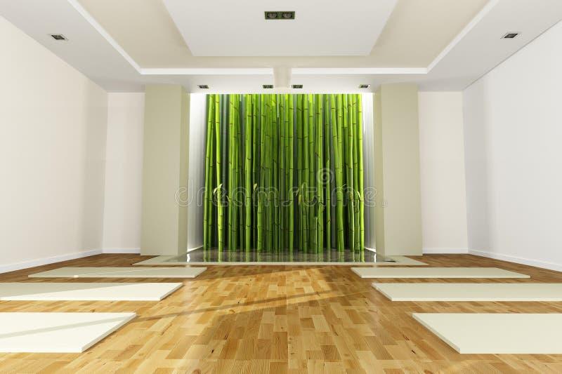 salle de classe de yoga illustration stock illustration. Black Bedroom Furniture Sets. Home Design Ideas