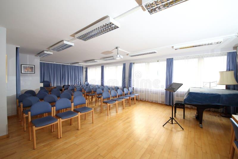 Salle de classe pour l'instruction de musique image stock