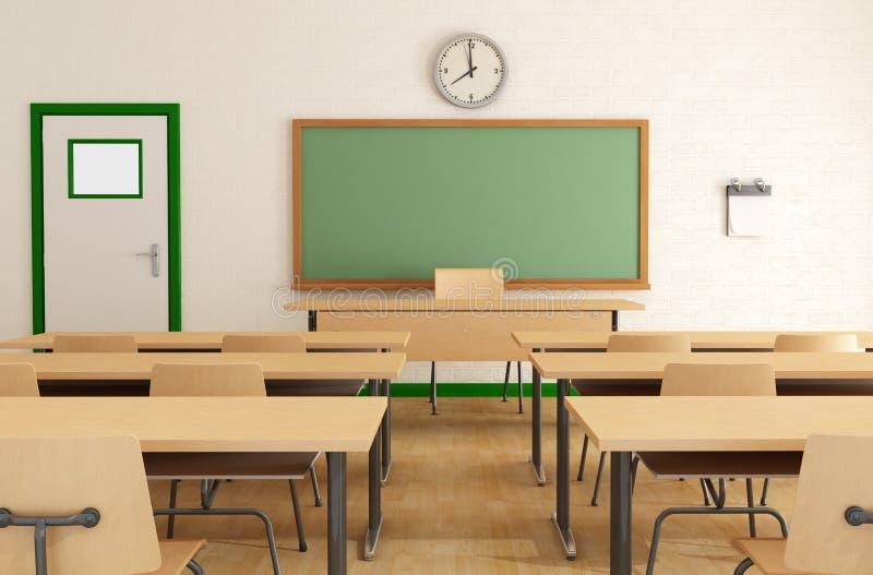 Salle de classe sans étudiants illustration libre de droits