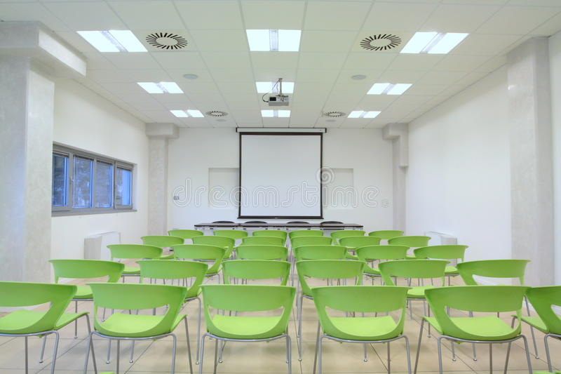 Salle de classe vide photo stock