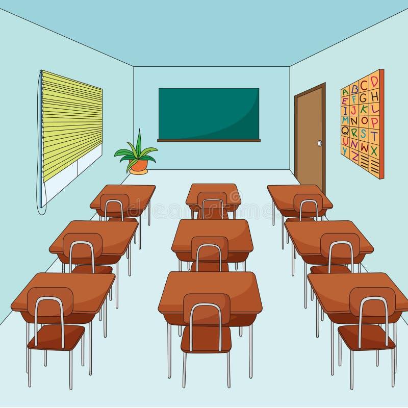Salle de classe vide illustration libre de droits