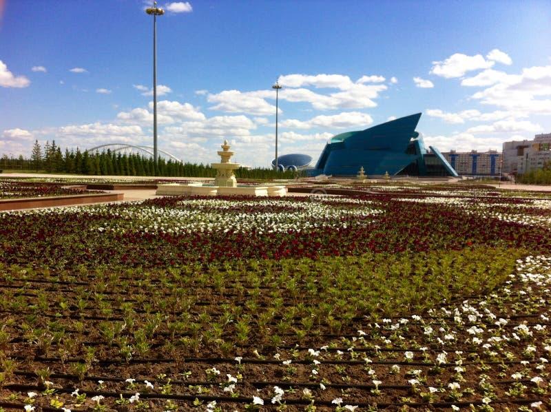 Salle de concert centrale de Kazakhstan images libres de droits
