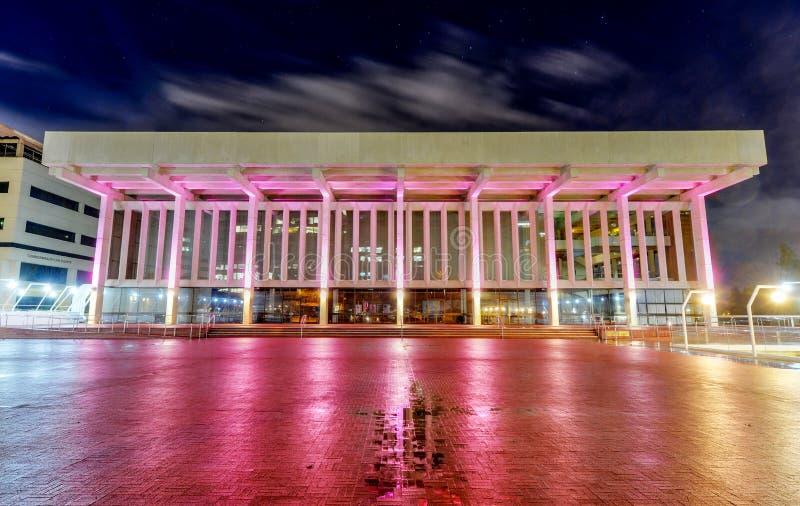 Salle de concert de Perth la nuit images libres de droits