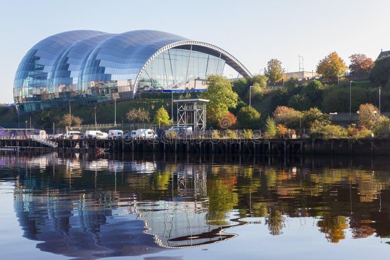 Salle de concert de Sage Gateshead sur le bord du quai de Newcastle Gateshead photo stock