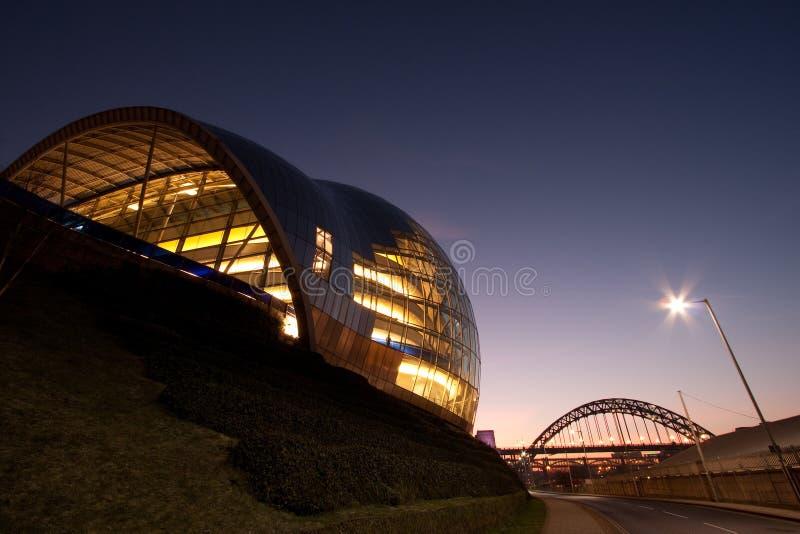 Salle de concert sage et théâtre, Gateshead photo stock