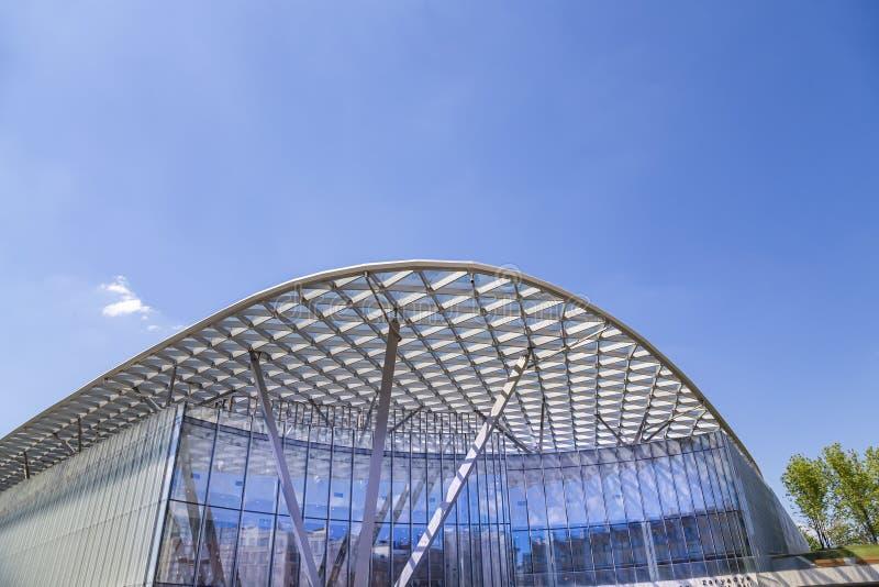 Salle de concert Zaryadye en parc de Zaryadye à Moscou, Russie image libre de droits