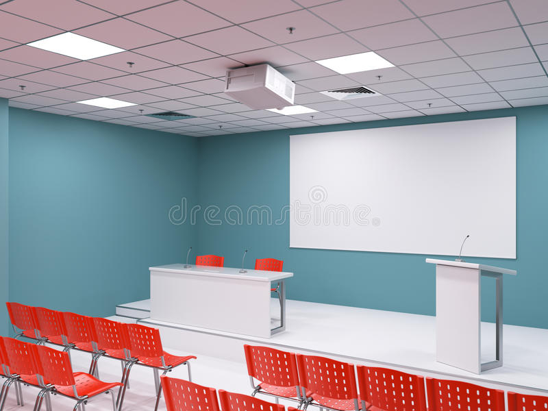 Salle de conférence vide illustration de vecteur