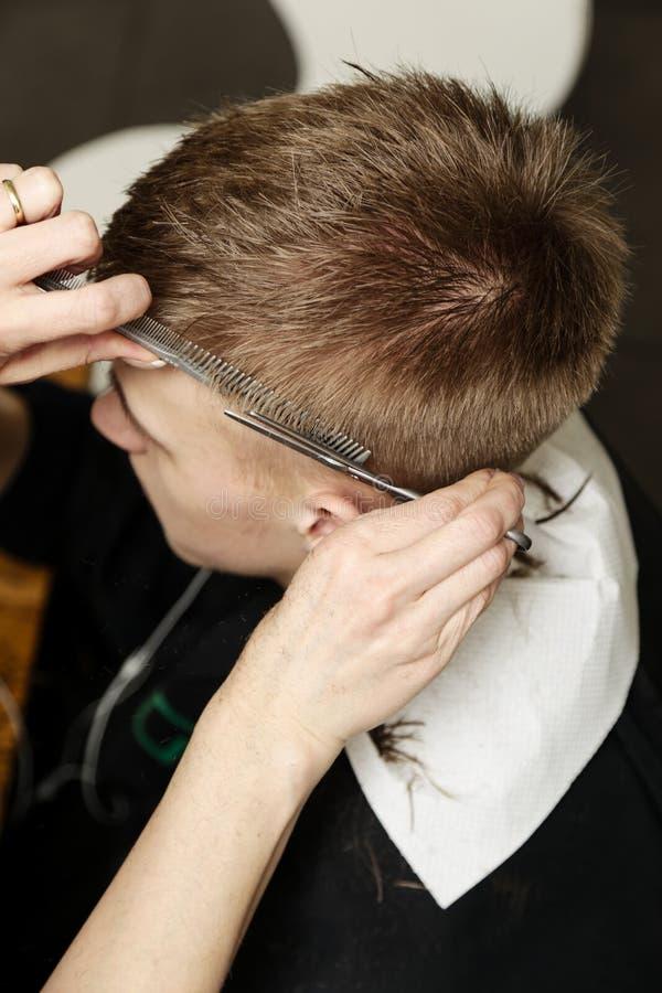 Salle de coupe de cheveux photo libre de droits