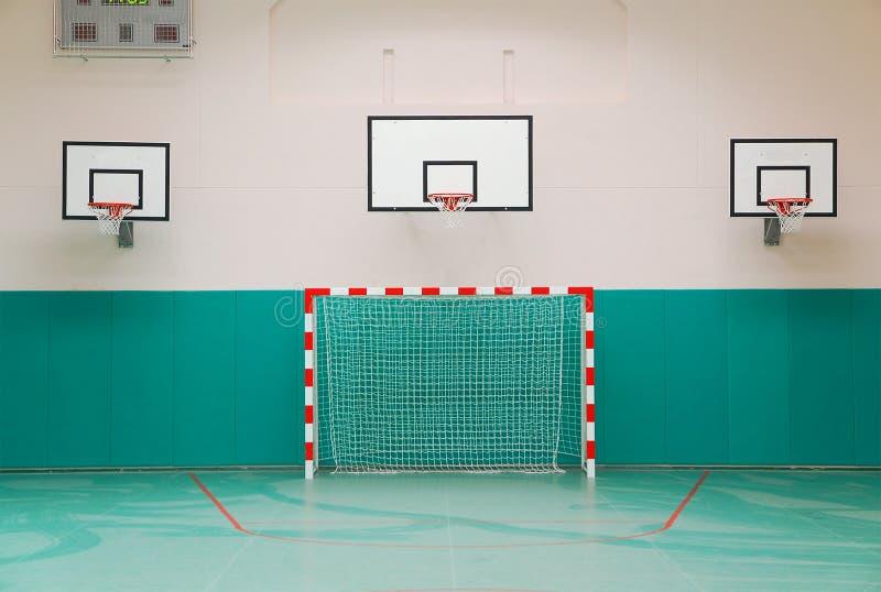Salle de gymnastique d'école image libre de droits