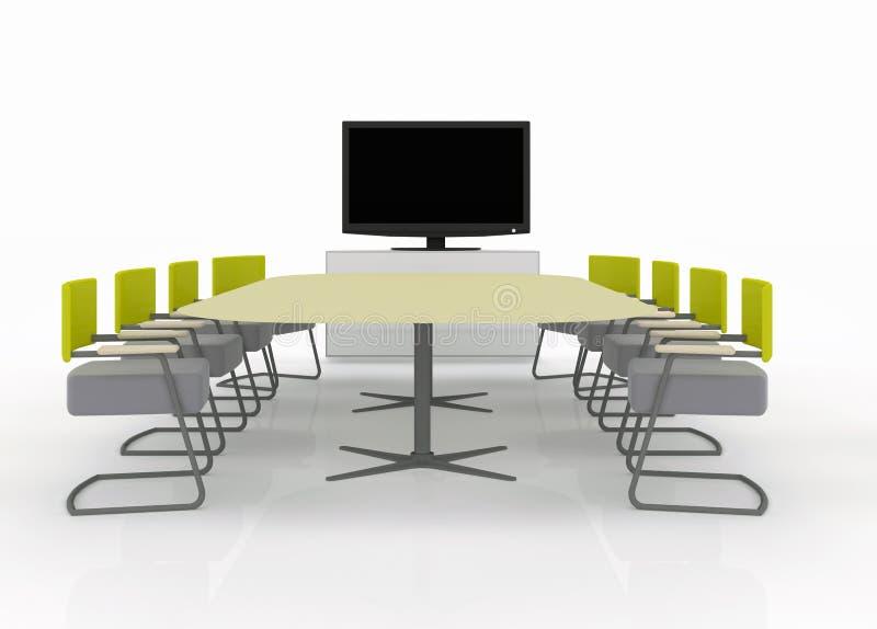 salle de r union avec la tv sur un backgroun blanc photos stock image 23657943. Black Bedroom Furniture Sets. Home Design Ideas