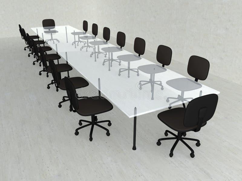 Salle de réunion concrète illustration libre de droits