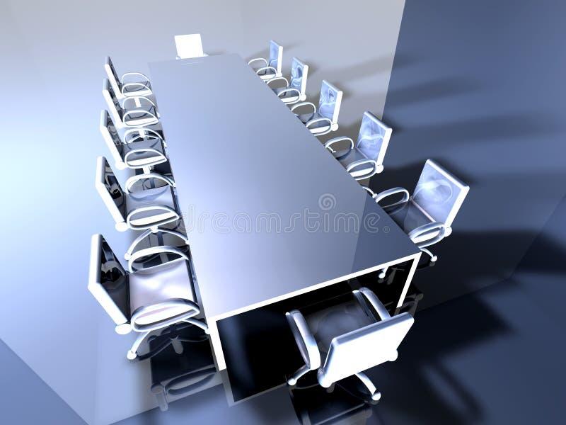 Salle de réunion en métal 2 illustration de vecteur