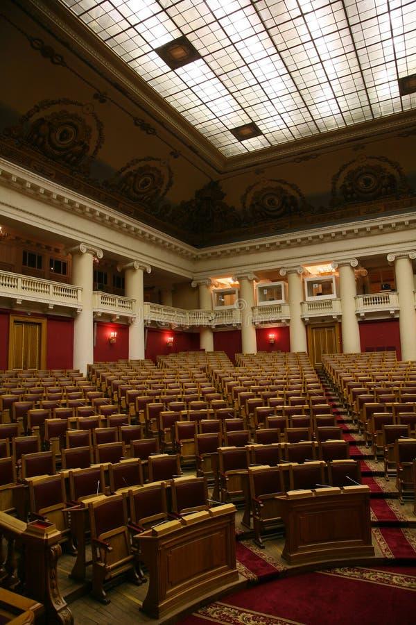 Salle de réunion historique de la douma d'état dans le palais de Tauride à St Petersburg, Russie photographie stock