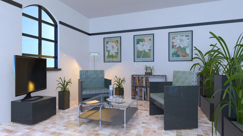 Salle de séjour illustration libre de droits