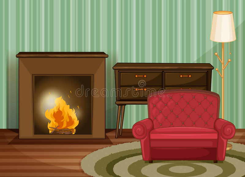 Salle de séjour illustration stock