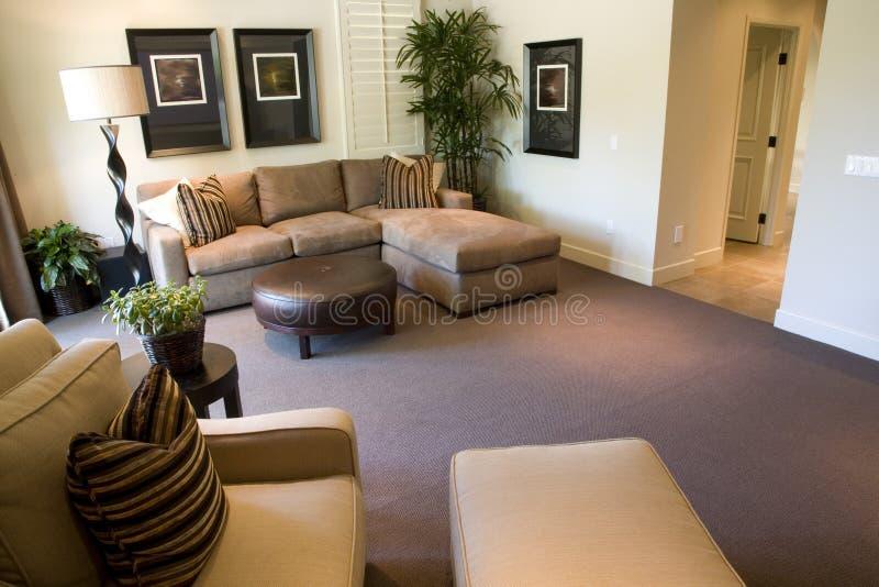 Salle de séjour confortable image libre de droits