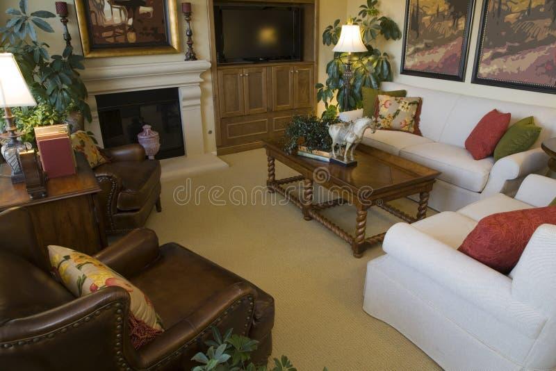 Salle de séjour confortable. photos libres de droits