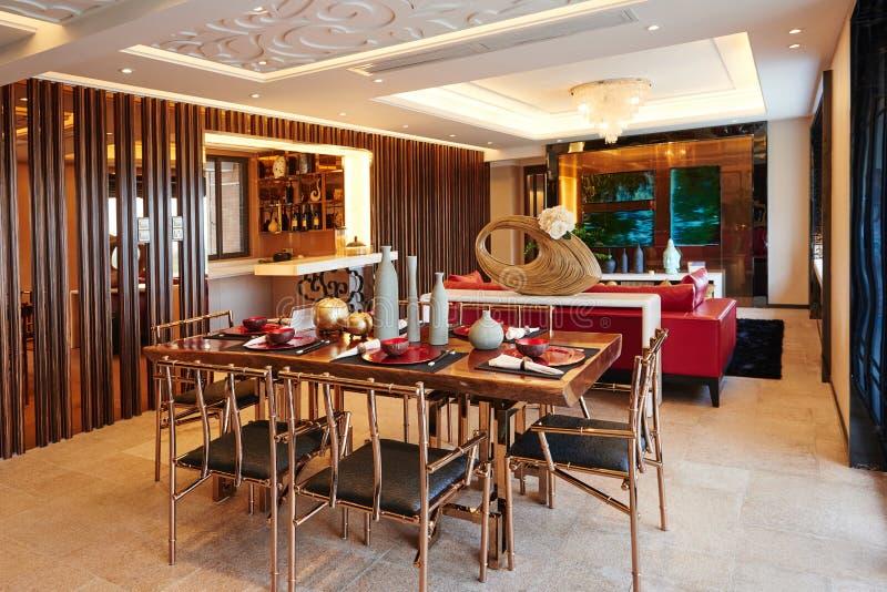 Salle de séjour de luxe moderne photos stock