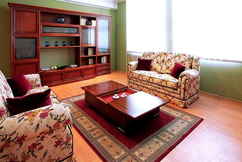 Salle de séjour florale images stock