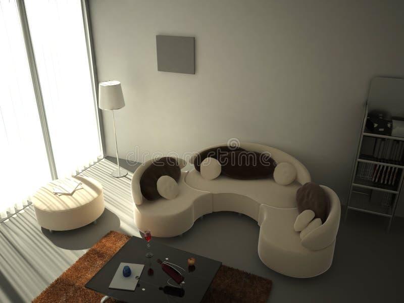 Salle de séjour intérieure illustration de vecteur