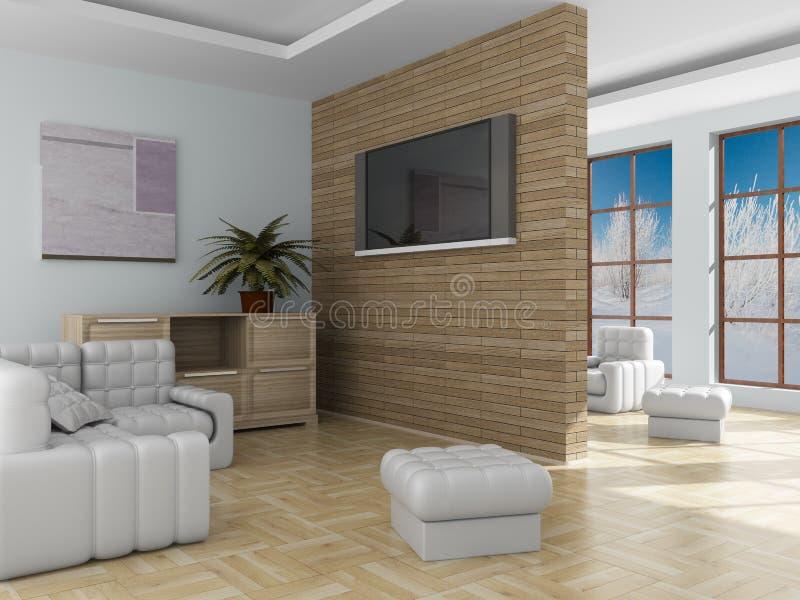 salle de séjour intérieure illustration stock