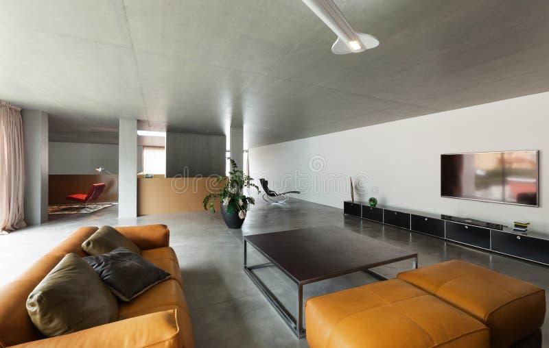 Salle de séjour moderne image stock. Image du sofa, personne ...