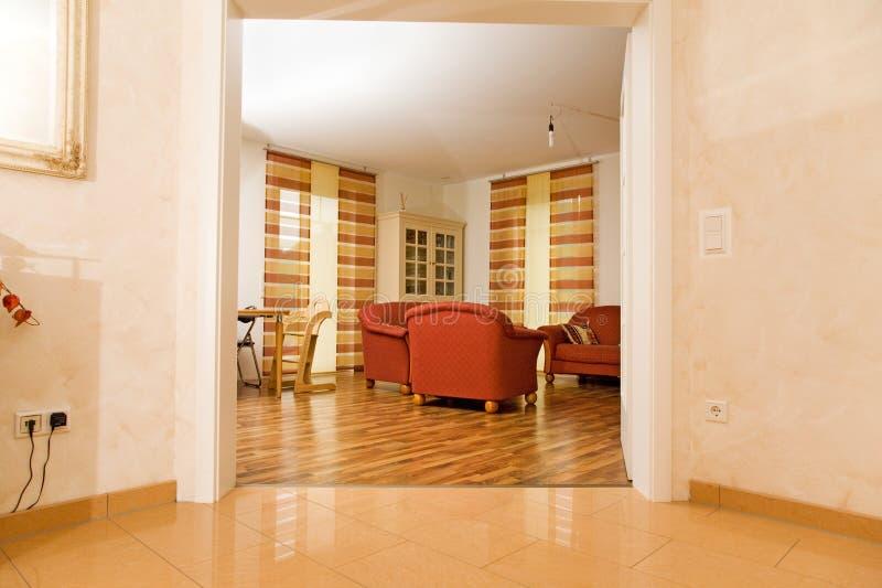 Salle de séjour moderne. photos libres de droits