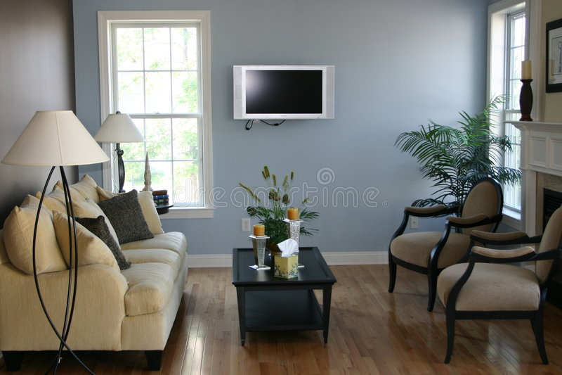 Salle de séjour moderne photo stock